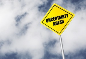 uncertainty sign cloud